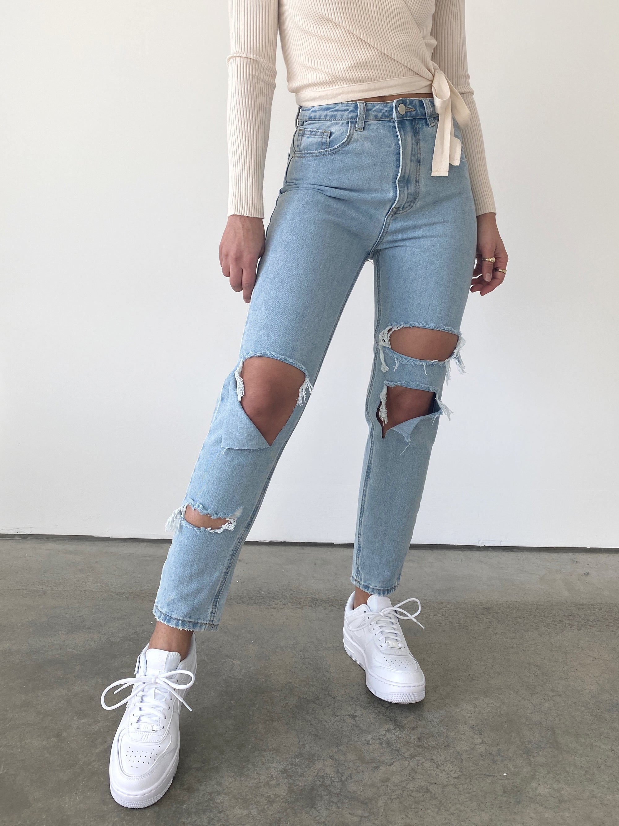 Bright Ripped Jeans