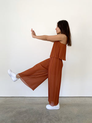 Too Perfect Jumpsuit, burnt orange