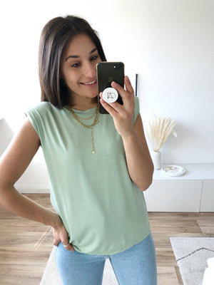 Big Shoulder Top, mint
