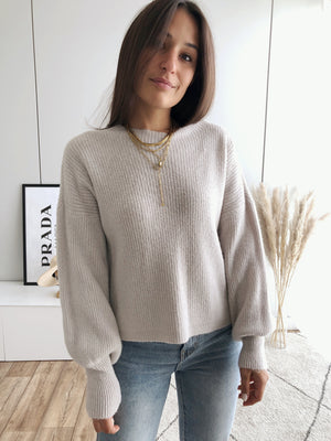 Fluffy Pullover, beige