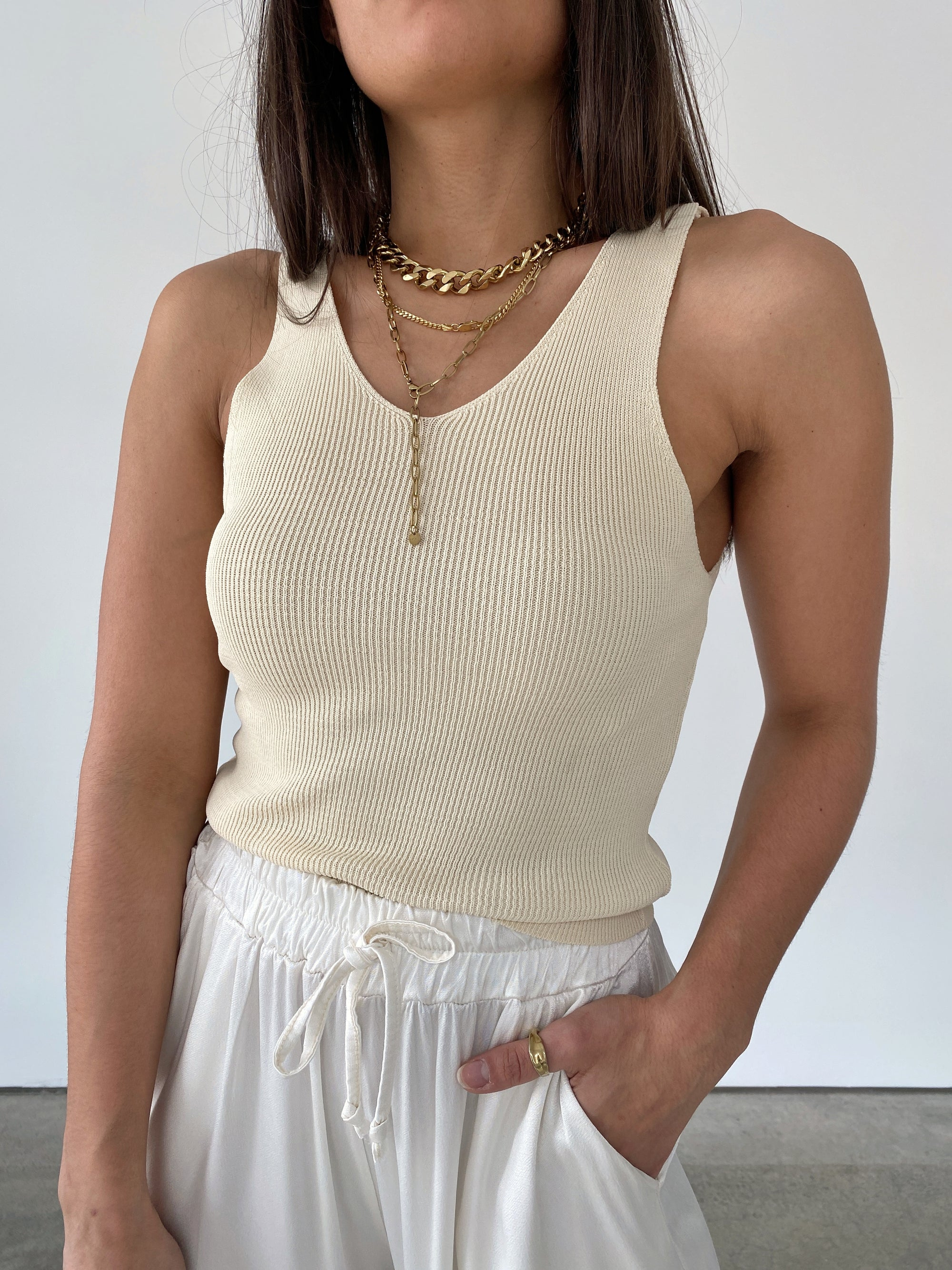 Knit Top, beige