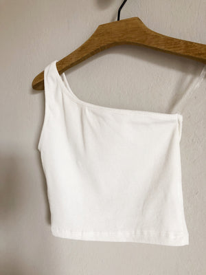 The Cropped Top, white