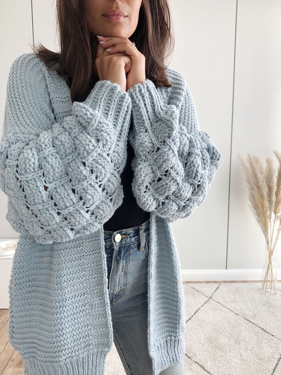Bubble Cardigan, babyblau