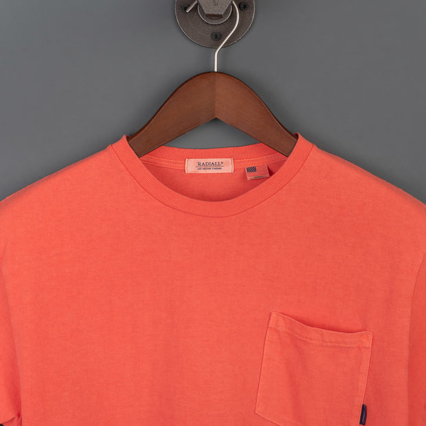 El Camino Crew Neck Pocket T-Shirt - Blood Orange