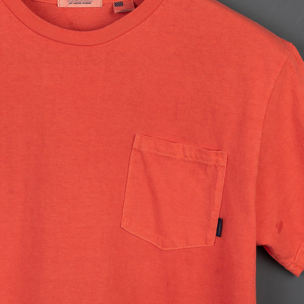 Radiall El Camino Crew Neck Pocket T-Shirt - Blood Orange