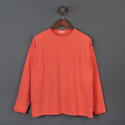 Radiall El Camino Crew Neck Long Sleeve T-Shirt - Blood Orange