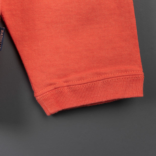 El Camino Crew Neck Long Sleeve T-Shirt - Blood Orange