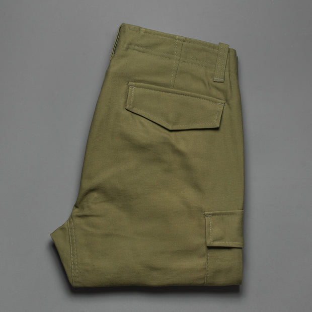 Nine Lives Khaki Mil Back Satin Cargo Pants