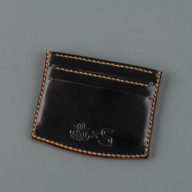 Sonder Supplies x OGL Black Shell Cordovan Leather Card Holder