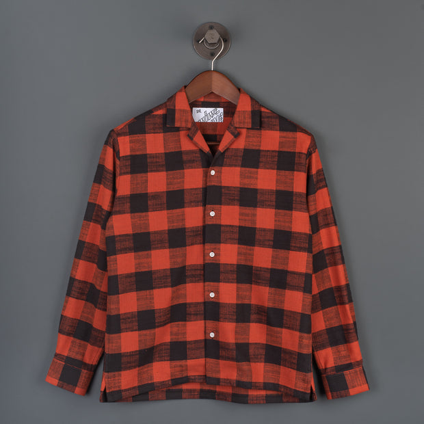 Nine Lives Red/Black The Flannel 405 Long Sleeved Shirt