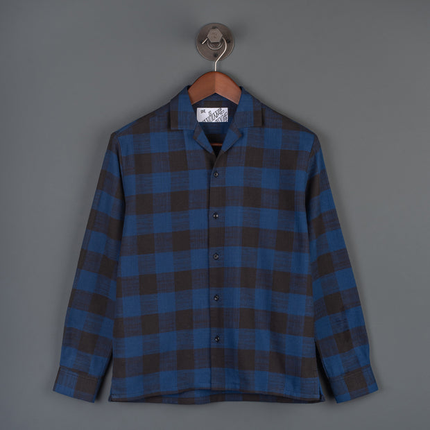 Nine Lives Blue/Black The Flannel 405 Long Sleeved Shirt