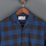 Nine Lives Blue/Black The Flannel 405 Short Sleeved Shirt