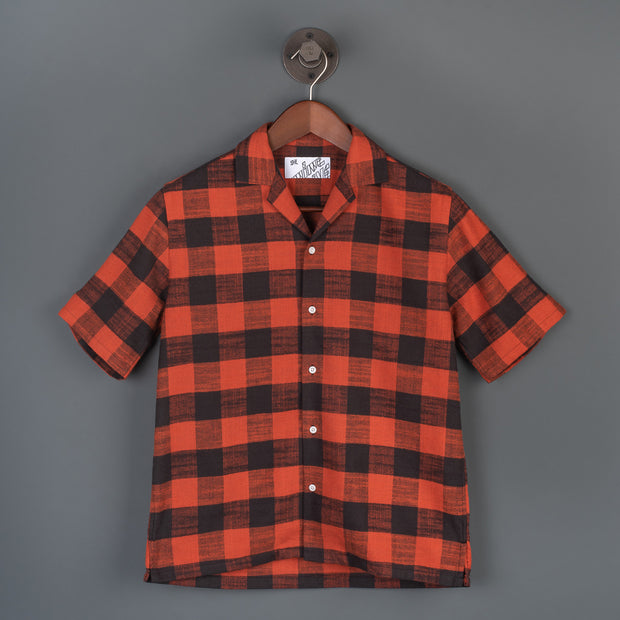 The Flannel 405 Short Sleeved Shirt - Red/Black
