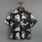 Chevy Rose Open Collared Shirt - Black