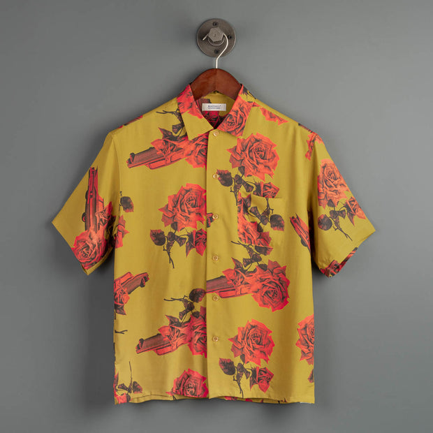 Chevy Rose Open Collared Shirt - Mustard