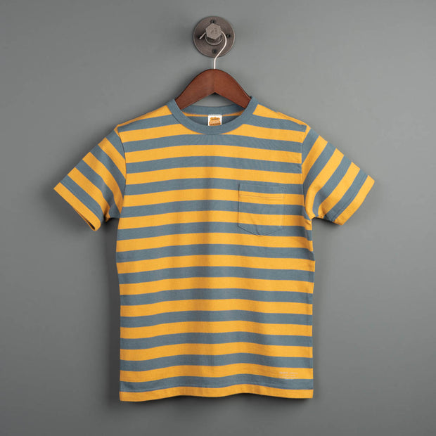 Mid Border S/S Tee - Gold/Blue