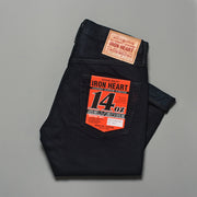 Iron Heart Overdyed Indigo 14oz Selvedge Denim Super Slim Tapered 777 Cut Jeans