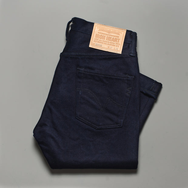 Iron Heart Indigo 21oz Serge Super Slim 555 Cut Jeans
