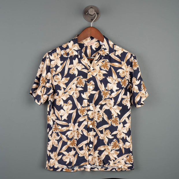 Duke Hawaiian S/S Shirt - Navy