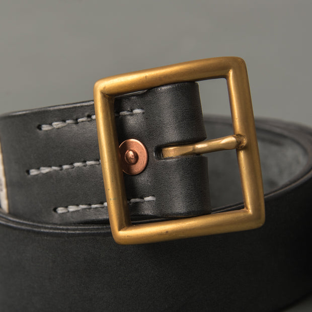 Faith Black Leather Belt