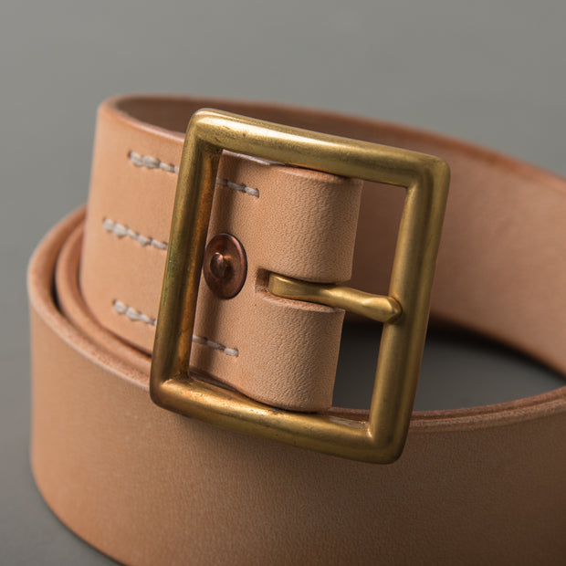 Tea Core Steerhide Belt - Natural Tan