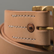 Faith Natural Tan Tea Core Steerhide Belt
