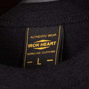 Iron Heart 6.5oz Loopwheel Crew Neck T-Shirt - Black