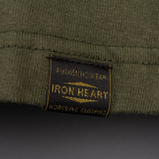 Iron Heart 6.5oz Loopwheel Crew Neck T-Shirt - Olive