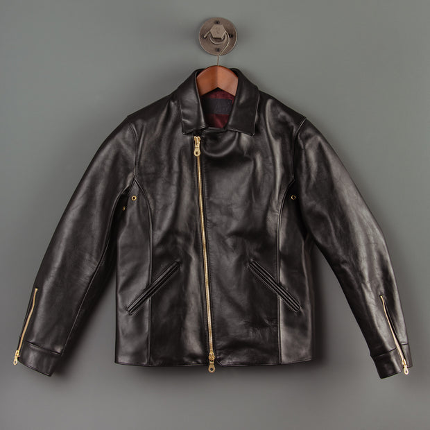 Nine Lives Black Leather Rider's Jacket