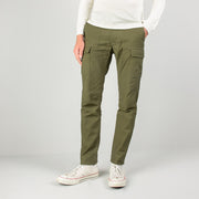 Mil Back Satin Cargo Pants - Khaki