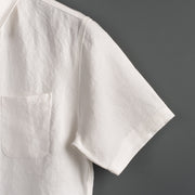 Nine Lives Oyster White Marshall Islander Short Sleeve Linen Shirt