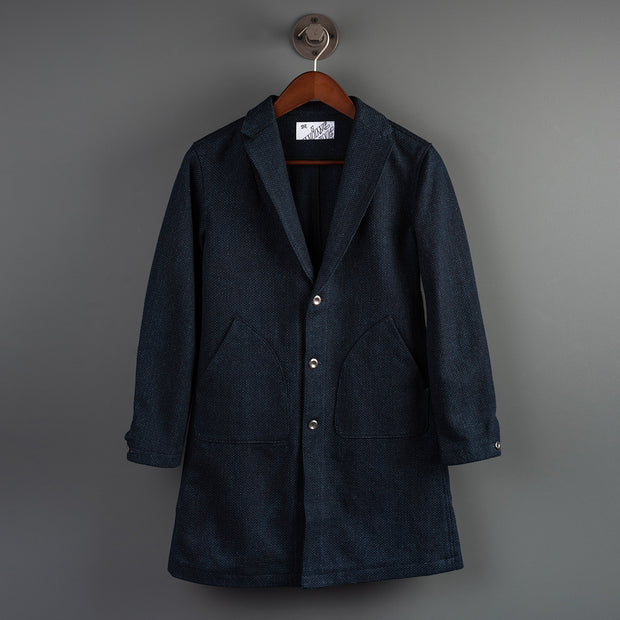 Nine Lives Indigo Sashiko Duster Coat