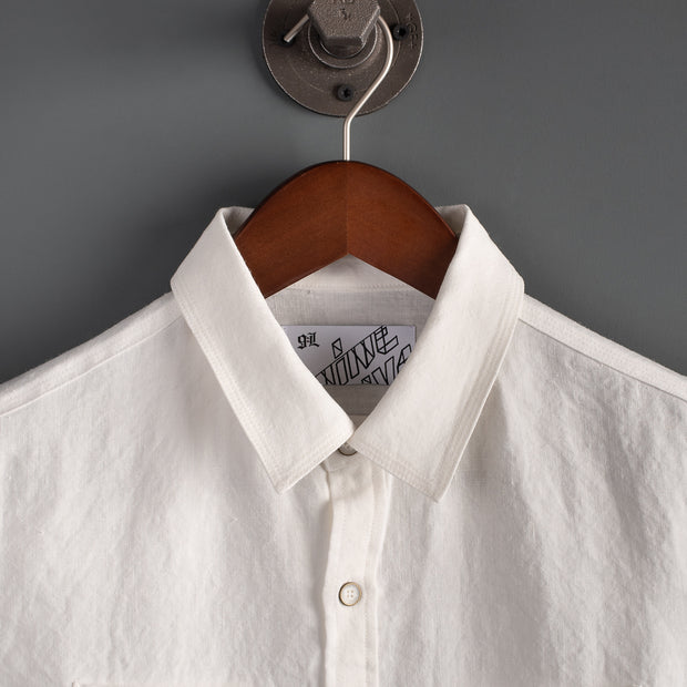 Marshall Islander Short Sleeve Linen Shirt - Oyster White