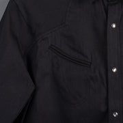 Nine Lives Black Replicant Raglan Denim Western Shirt