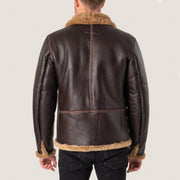 PRE ORDER: Leather Flying Jacket - Seal Brown