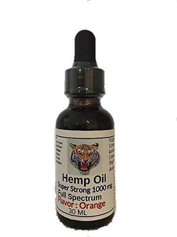 New Hemp Oil 1000 mg Super Strong (Orange)