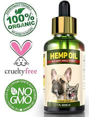 Hemp Oil for Dogs and Cats - Full Spectrum Hemp Extract - 500mg - All Natural Pain Relief for Dogs & Cats, Calming, Stress & Anxiety Support, Wellness, Hip & Joint Health - Easily Apply to Treats