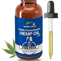 Hempy Pets Hemp Oil for Dogs and Cats - Full Spectrum Extract, Organic & 100% Pure - for Arthritis Pain Relief, Anxiety & Good Health - Dog/Cat Joint Supplement & Calming Aid