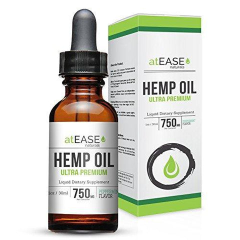 atEase Full Spectrum Hemp Oil Tincture 750mg - 1oz Peppermint Flavor