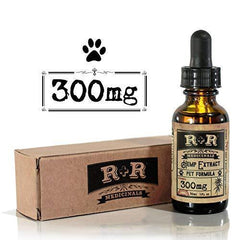 R+R Medicinals Hemp Oil for Dogs :: Hemp Oil for Pets :: Hemp Oil for Cats :: Hemp Oil for Stress Relief, Anxiety, Pain, Calming Relief (300mg, 10mg Serving x 30 Servings)