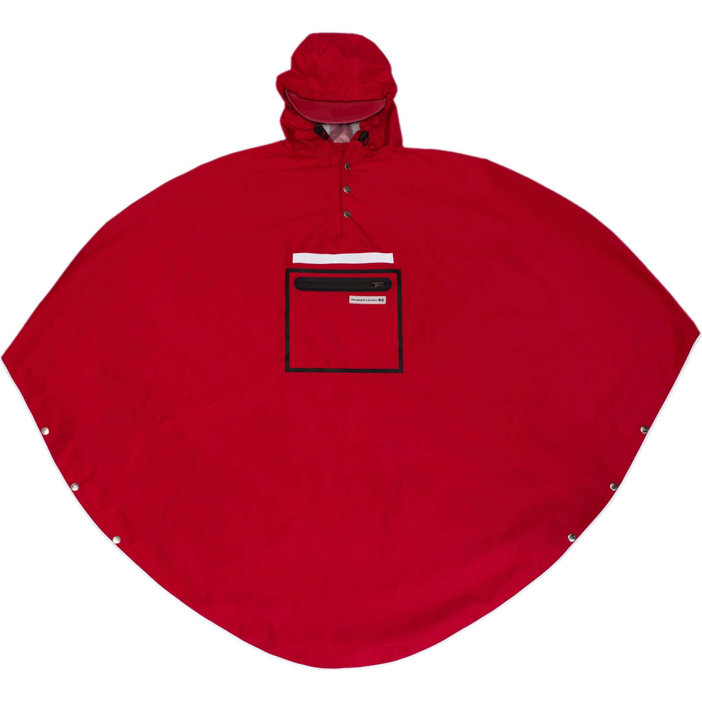 Peoples Poncho red volw - Olcay Belgium