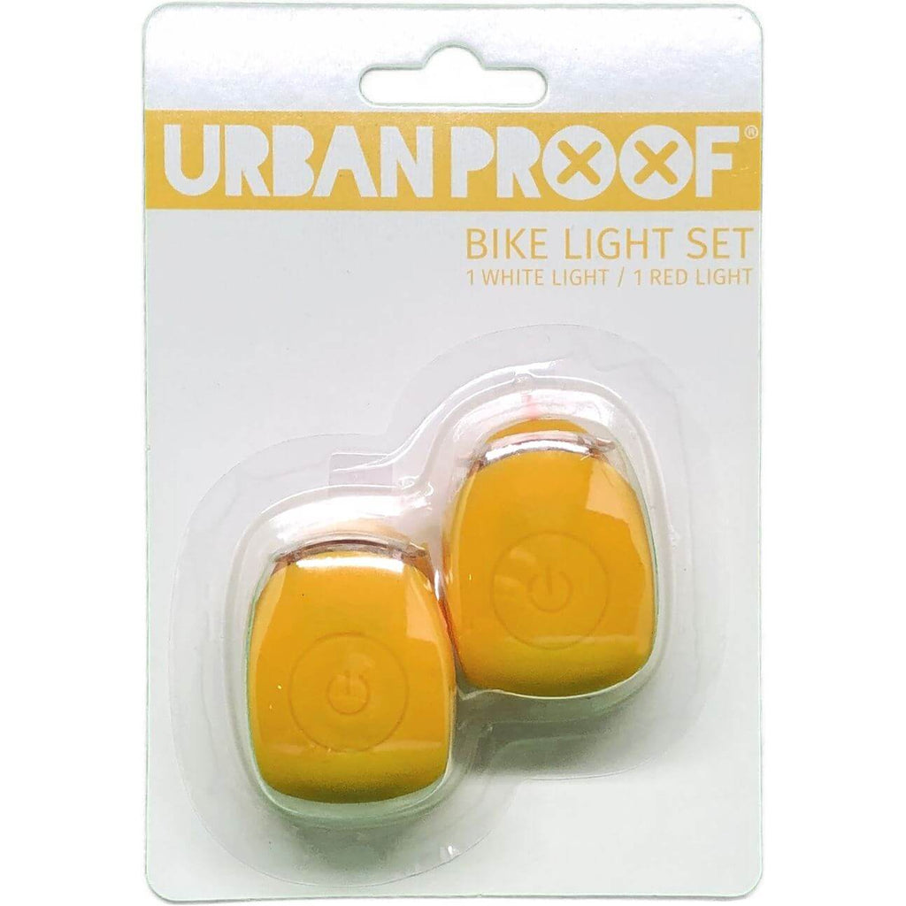 UP Siliconen LED Fietslampjes set Ochre yellow - Olcay Belgium