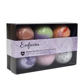 Enfusia's Best Bath - 6 Fizz & Foam Bath Bombs