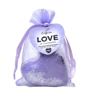Love is Lavender - Bath Bomb Heart