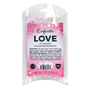 Love is Naked - Bath Bomb Heart Duo