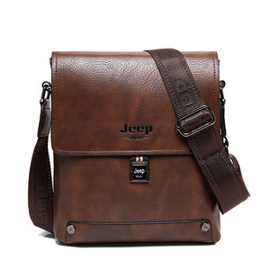 JEEP BULUO Famous Brand Bag Man Business Briefcase Man's High Quality Cow Split Leather Messenger Shoulder Bags Male Totes 5840