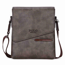 VICUNA POLO Vintage Frosted Leather Messenger Bag For Man Brand Business Man Bag Men's Shoulder Bags Front Pocket Men Handbag