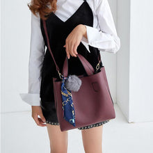 Litchi Soft PU Leather Two Piece Bag