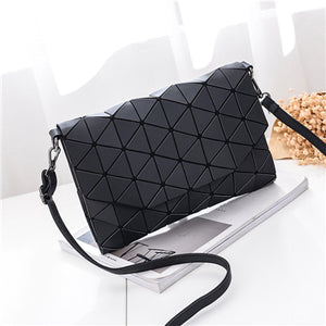 Small Solid Plaid Geometric Lingge Envelope Handbag