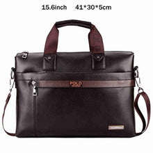 VICUNA POLO Top Sell Fashion Simple Dot Famous Brand Business Men Briefcase Bag Leather Laptop Bag Casual Man Bag Shoulder bags